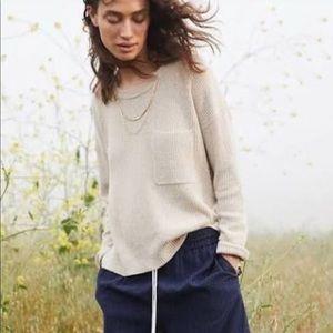 Madewell Thompson Pocket Pullover Cream Sweater